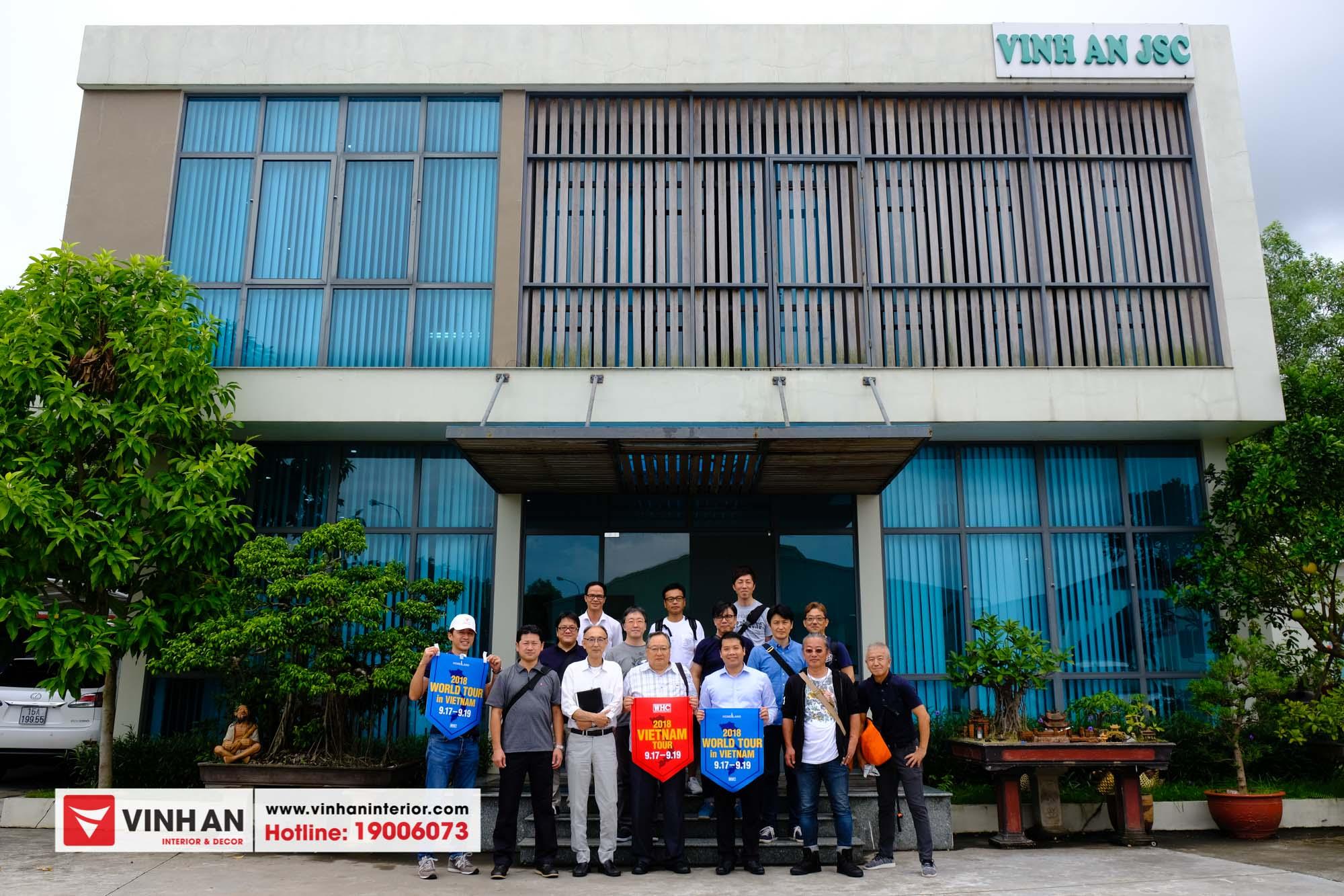 Hội doanh nghiệp Nhật Bản đến thăm quan và làm việc tại Nhà máy Ván sàn gỗ Vĩnh An